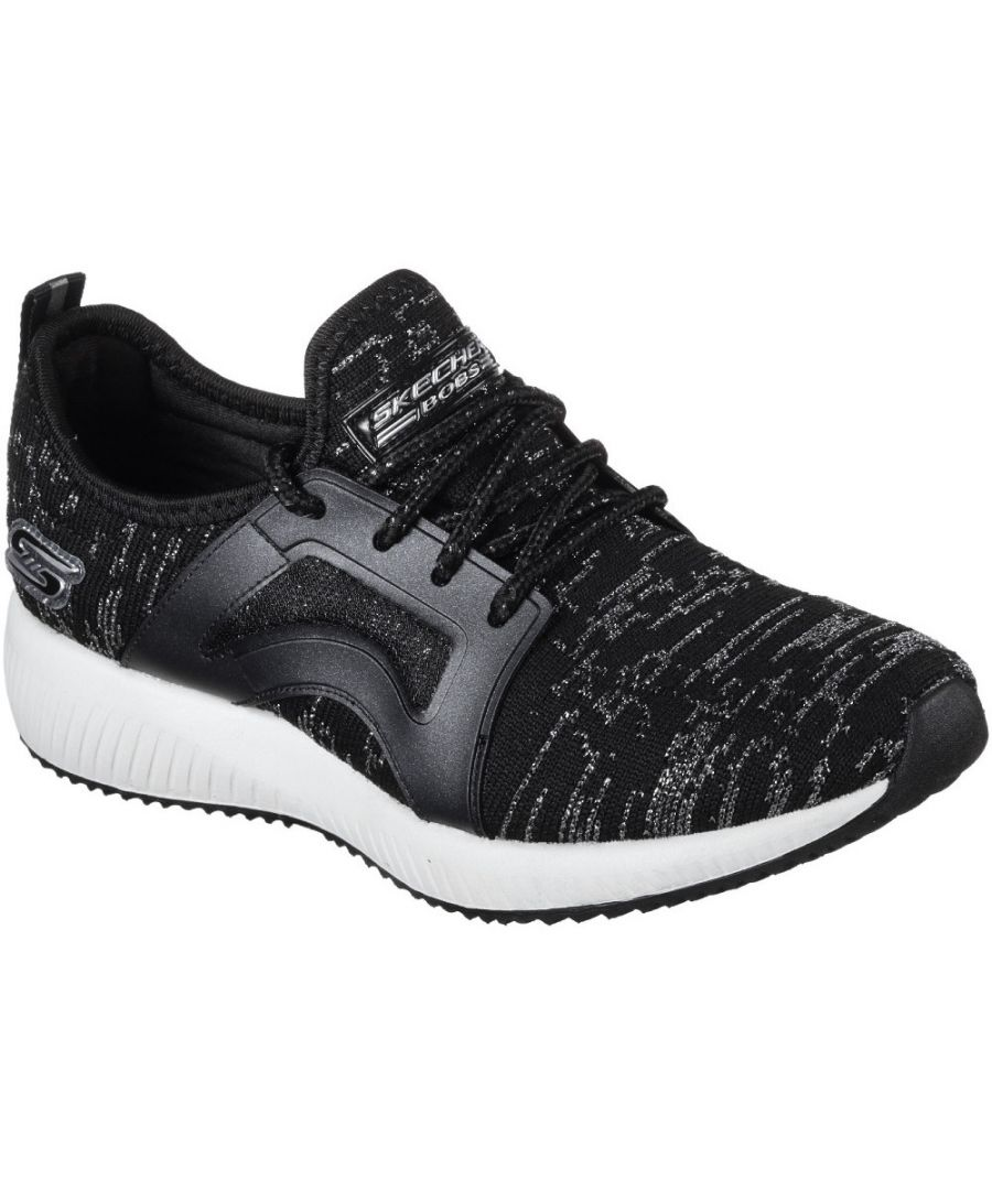 Image for Skechers Womens/Ladies Bobs Sport Squad Glossy Finish Trainers Shoes