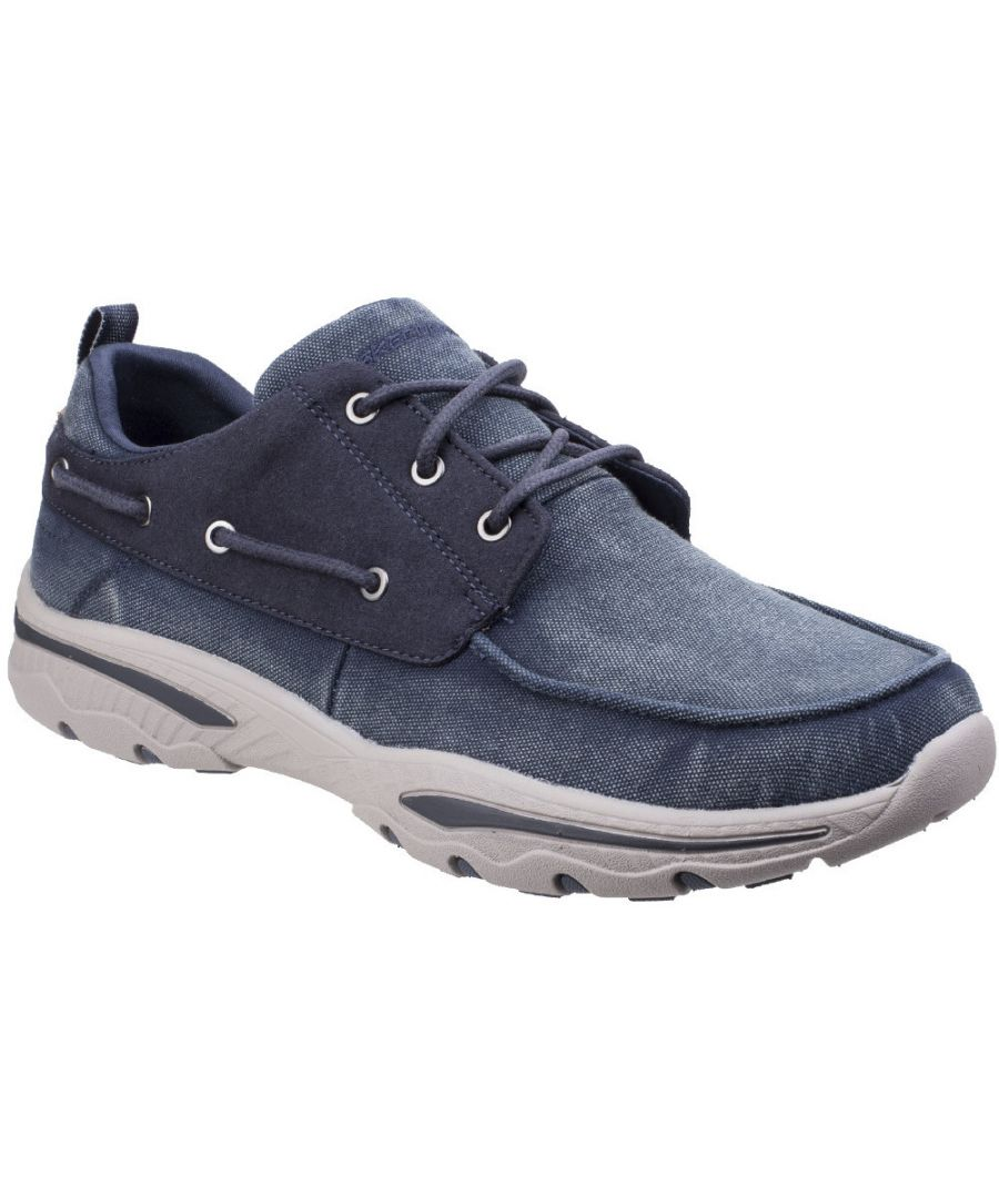 Image for Skechers Mens Creston Vosen Cushioned Lace Up Casual Boat Shoes