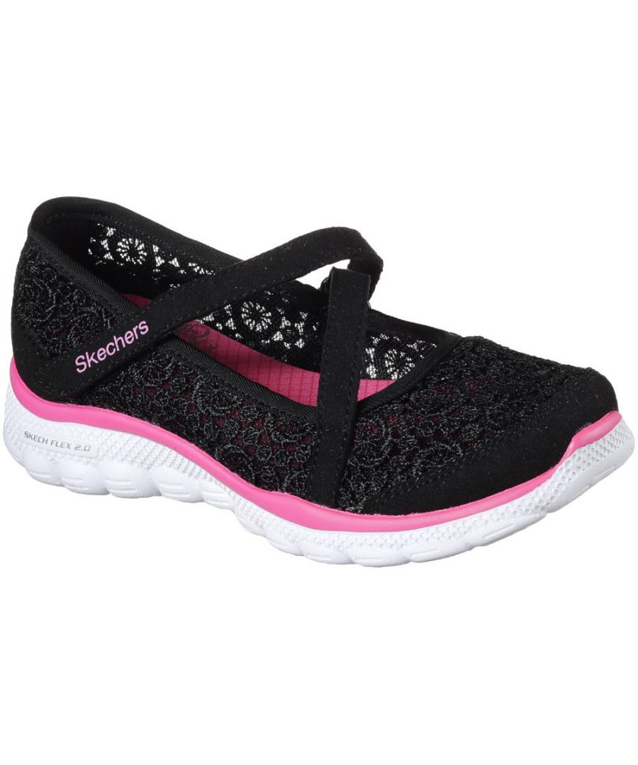 Image for Skechers Girls Skech Flex 2.0 Comfy Crochetes Casual Mary Jane Shoes