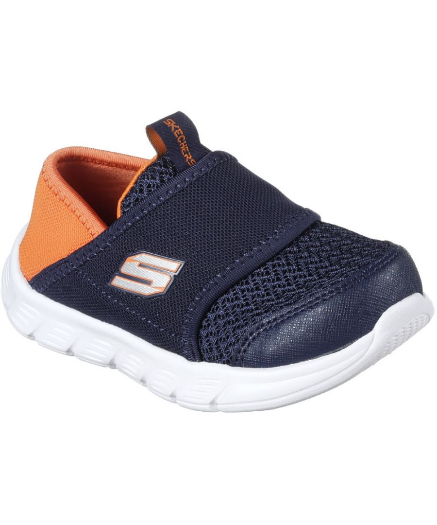 Image for Skechers Boys Comfy Flex Slip On Mesh Contrast Trainers Shoes