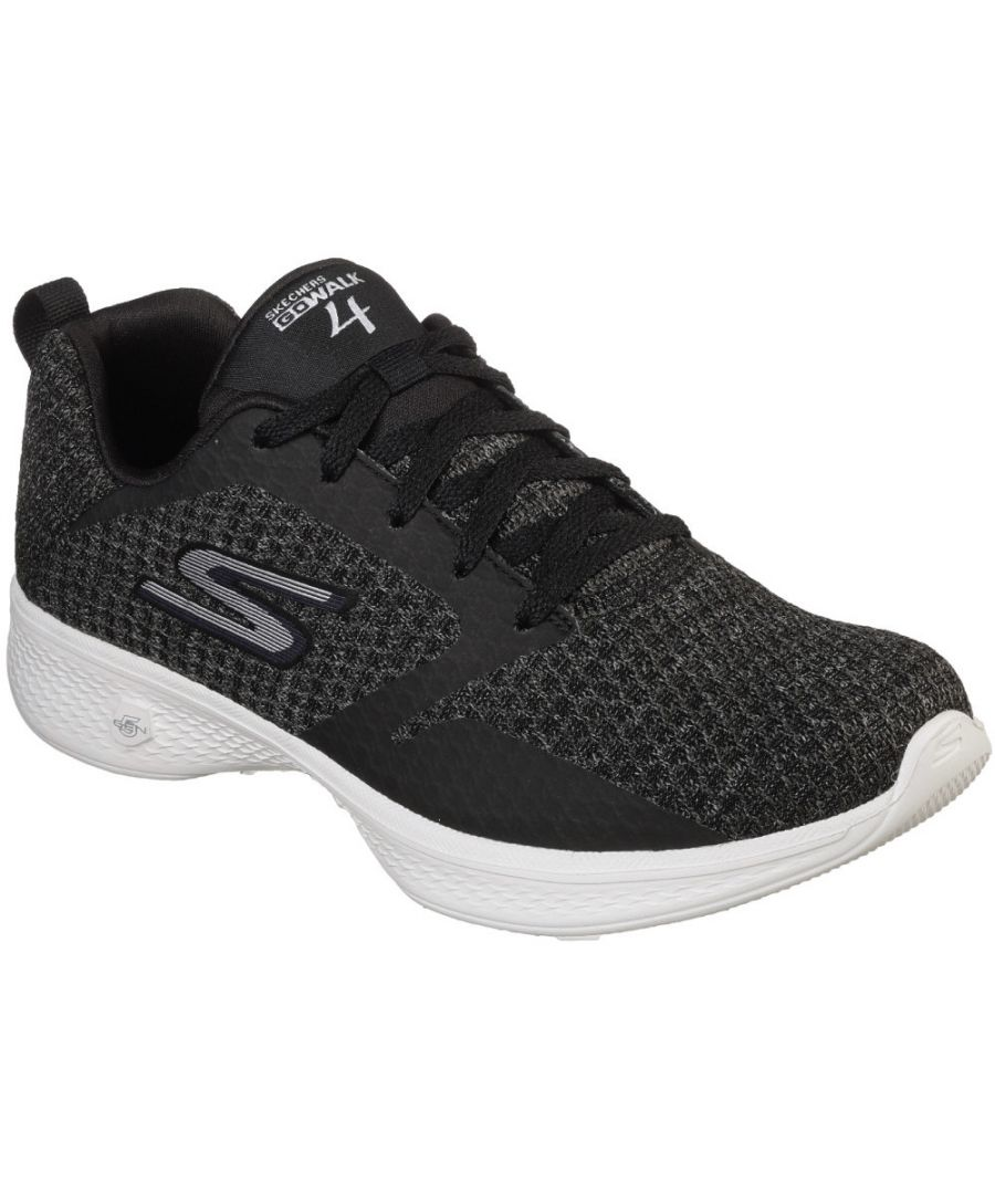 Image for Skechers Womens Go Walk 4 Lightweight Mesh Lace Up Trainers