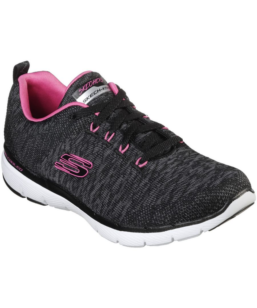 Image for Skechers Womens Flex Appeal 3.0 Lace Up Air Cooled Trainers