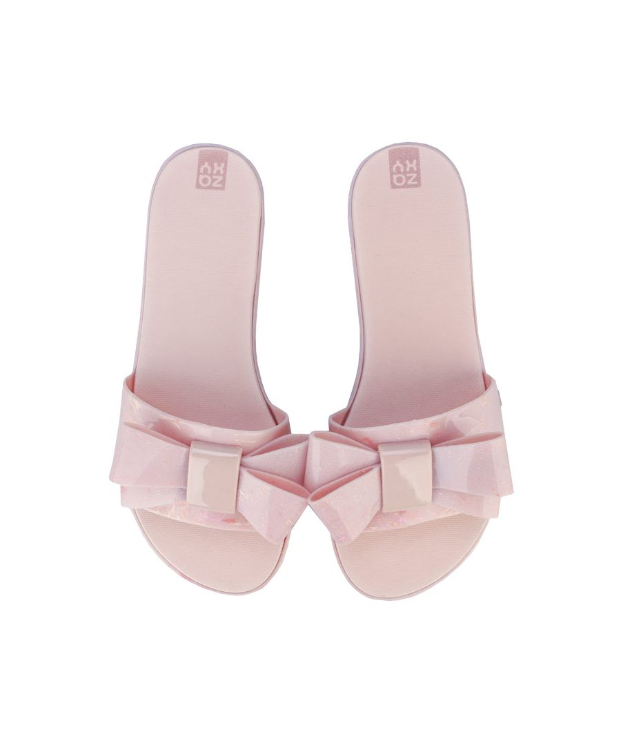 Image for Women's Zaxy Sky Bow Slide Sandals in Nude