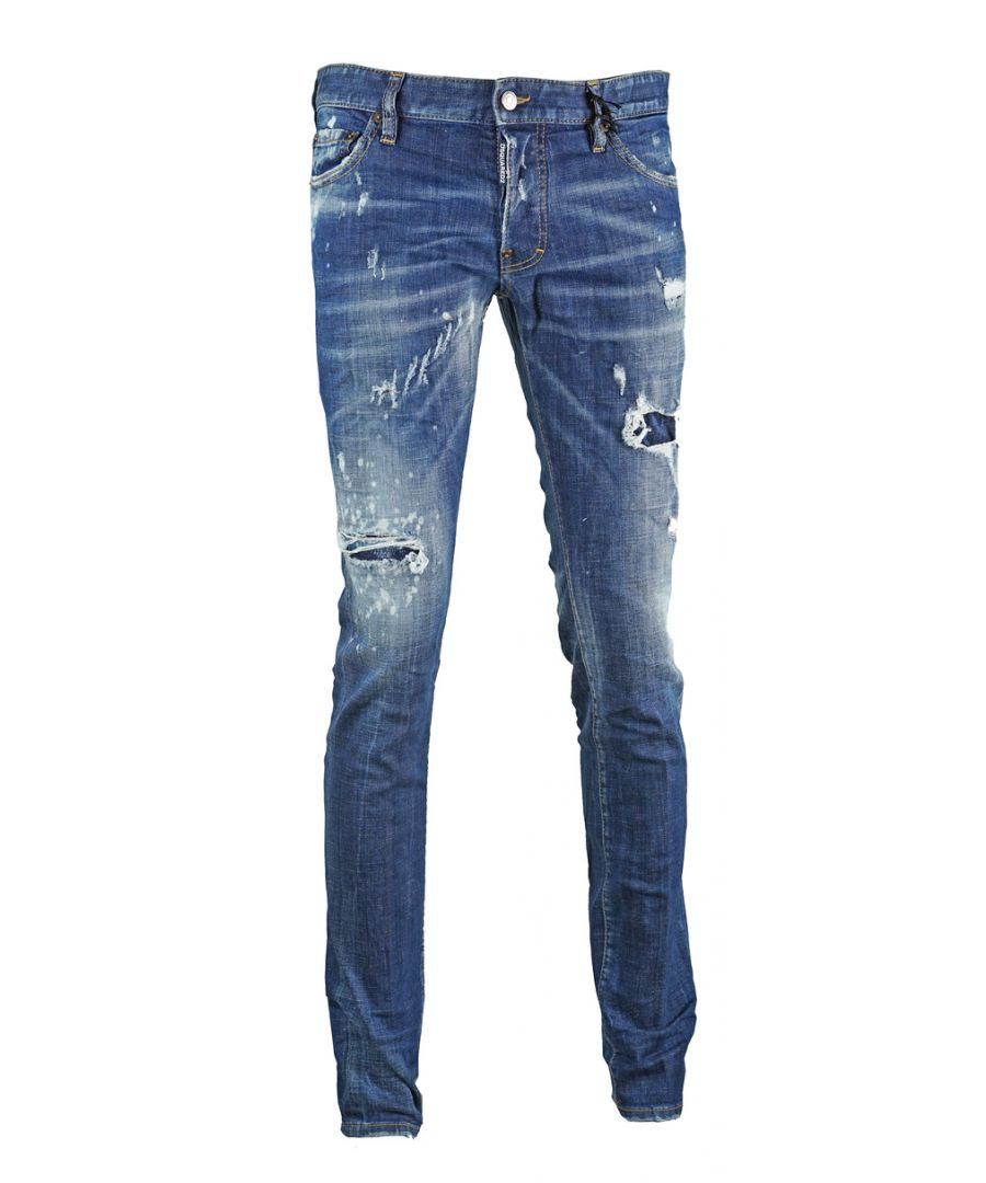 Image for Dsquared2 Slim Jean Destroyed Effect Jeans