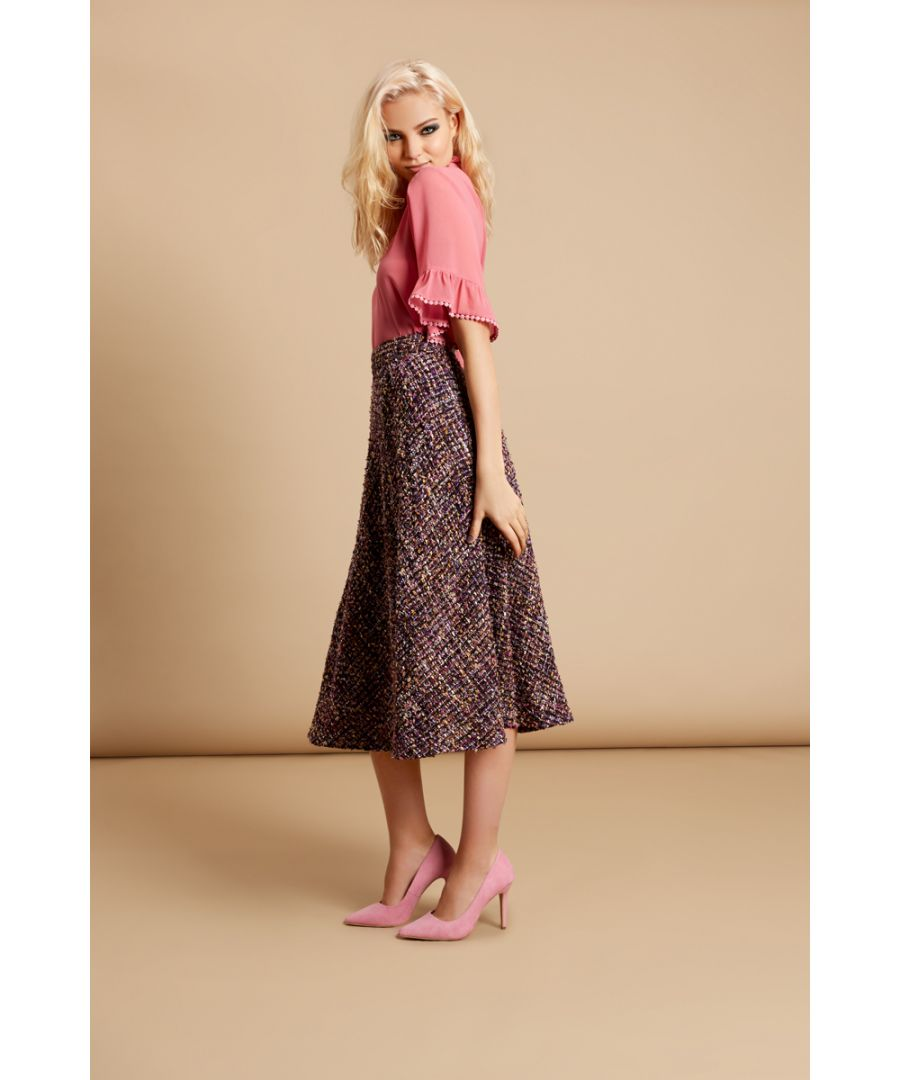 Image for Midi Tweed Dior Skirt in Purple