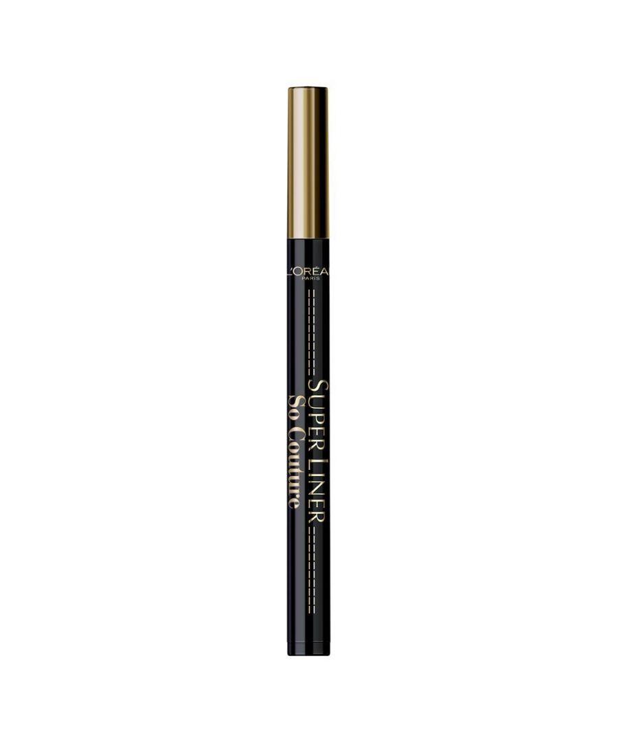 Image for L'Oreal Paris Superliner So Couture 01 Black Eyeliner New