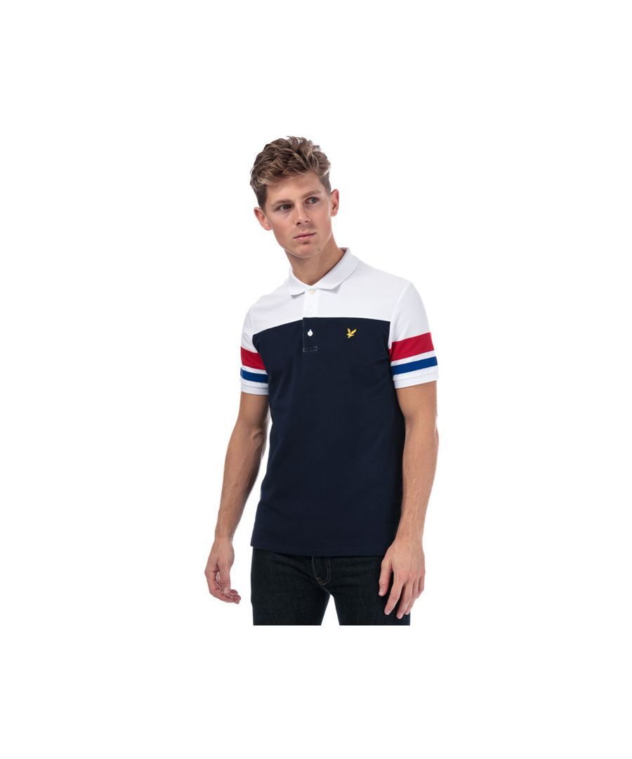 Image for Men's Lyle And Scott Contrast Band Polo Shirt in Navy