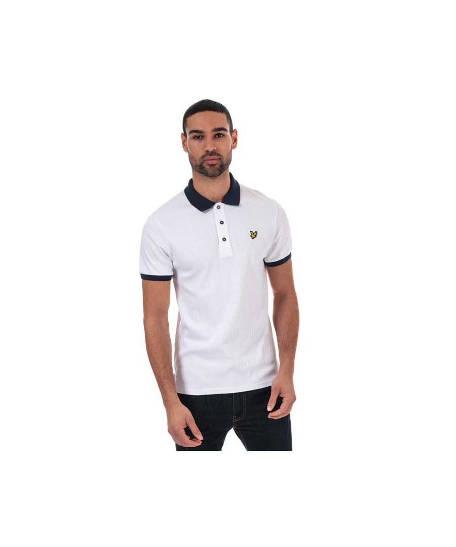 Image for Men's Lyle And Scott Slim Stretch Contrast Polo Shirt in Navy