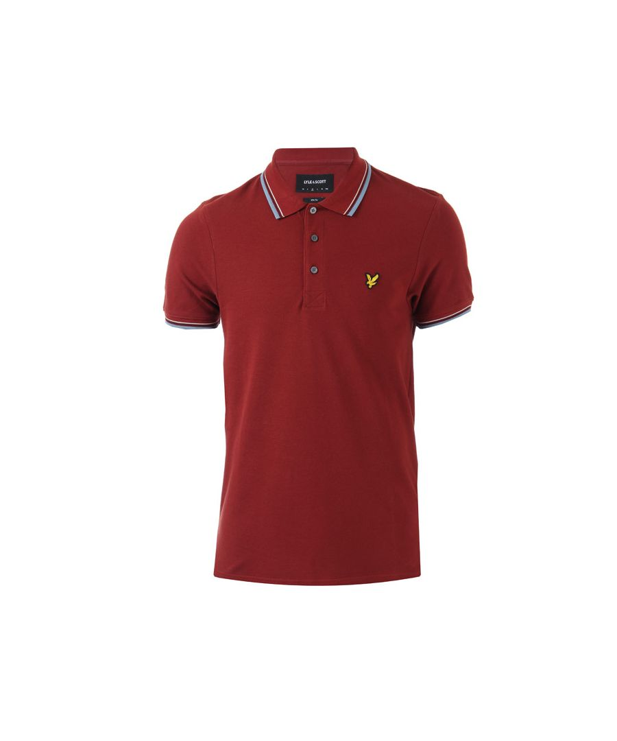 Image for Men's Lyle And Scott Tipped Slim Stretch Polo Shirt in Red