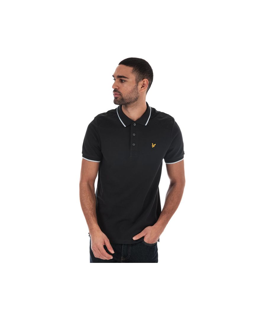 Image for Men's Lyle And Scott Nylon Panel Polo Shirt in Black