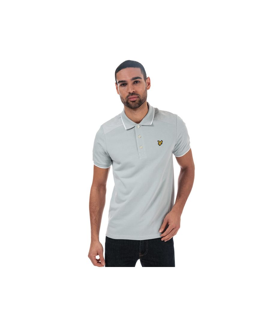 Image for Men's Lyle And Scott Nylon Panel Polo Shirt in Silver