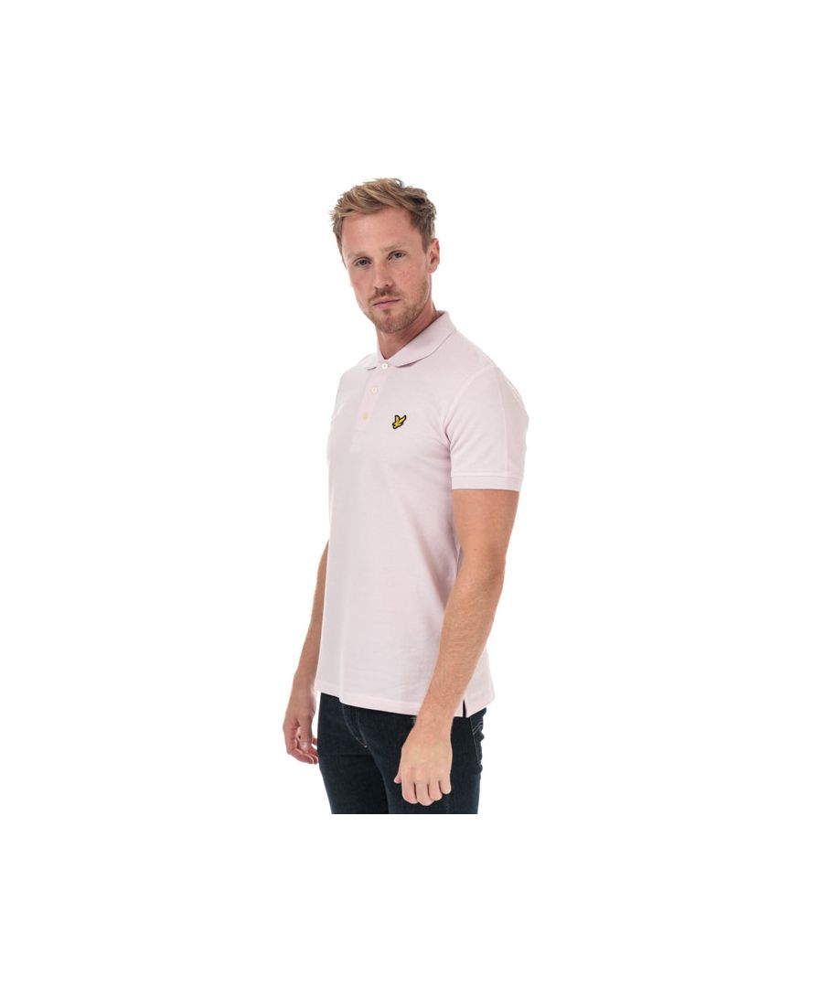 Image for Men's Lyle And Scott Plain Polo Shirt in Lilac