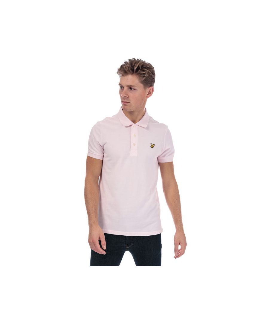Image for Men's Lyle And Scott Plain Polo Shirt in Pink
