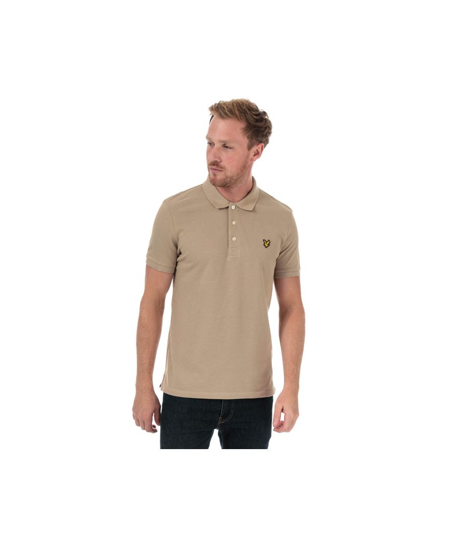Image for Men's Lyle And Scott Plain Polo Shirt in Stone