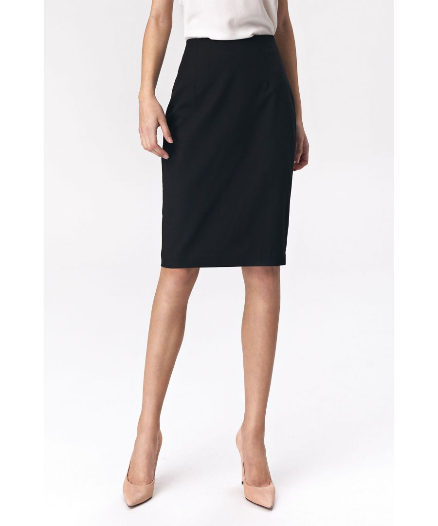 Image for Simple pencil skirt - black
