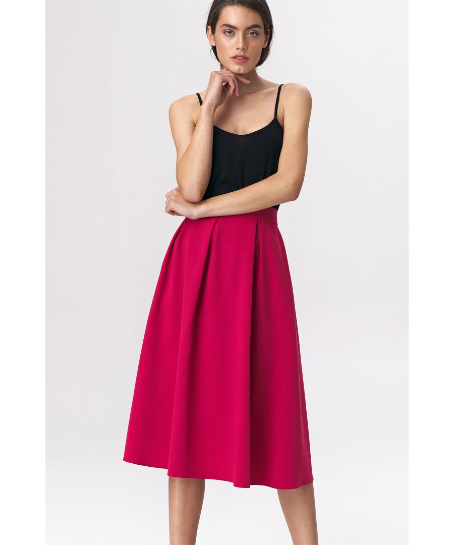 Image for Flared skirt midi - fuchsia