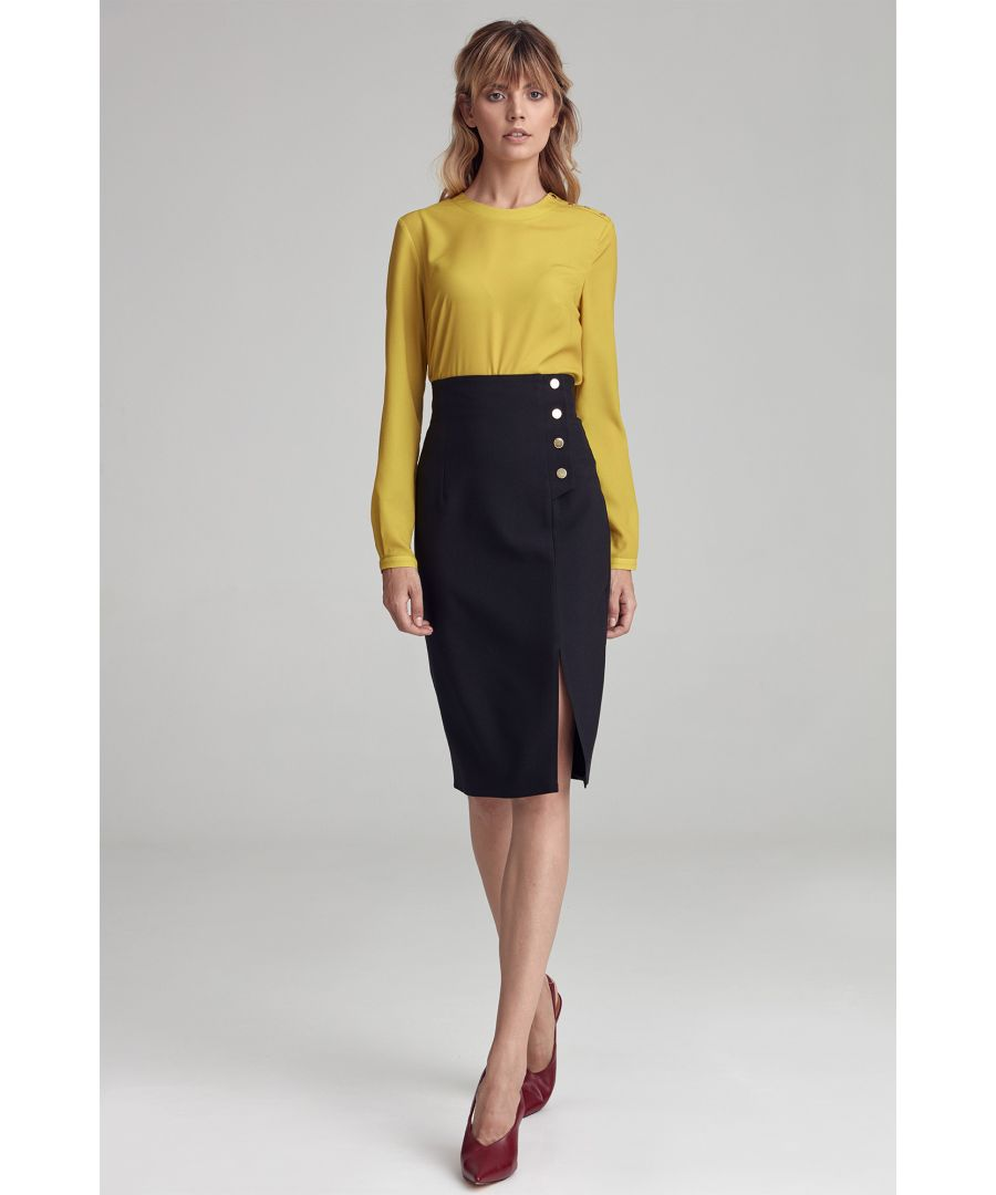 Image for Black Skirt With High Waist