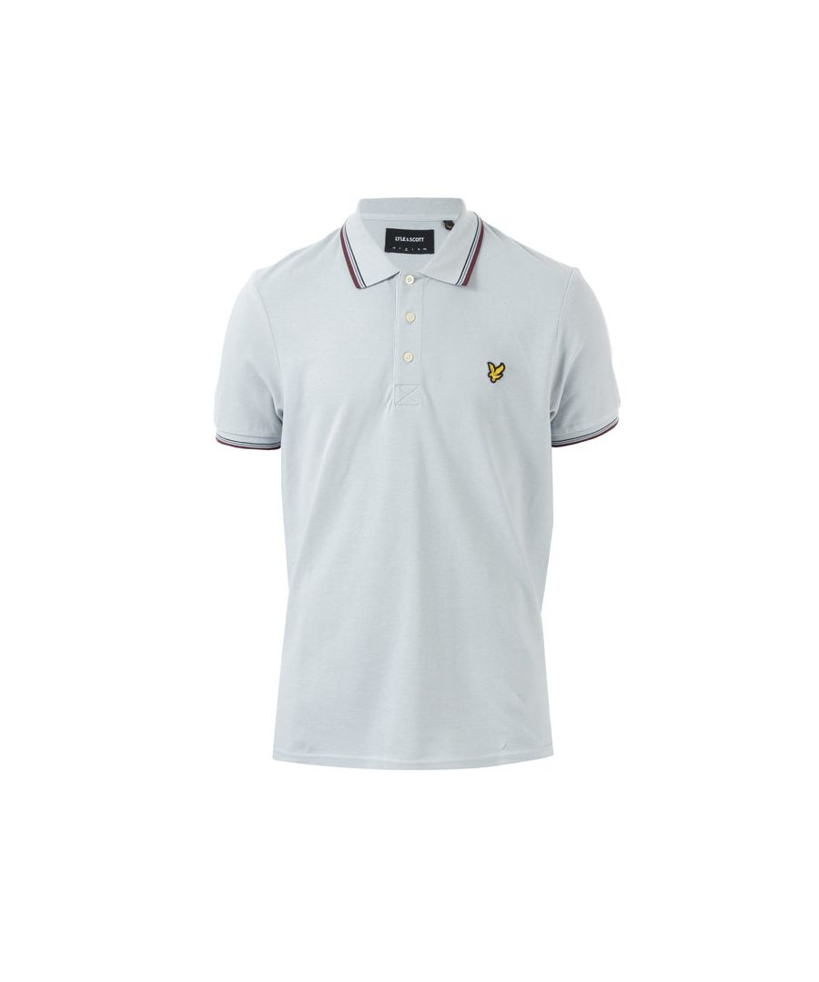 Image for Men's Lyle And Scott Tipped Polo Shirt in Silver