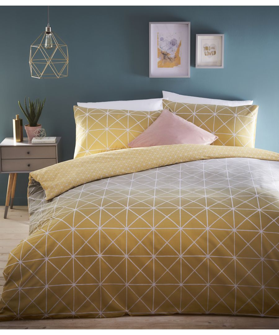 Image for Spectrum Duvet Set Ochre/Grey