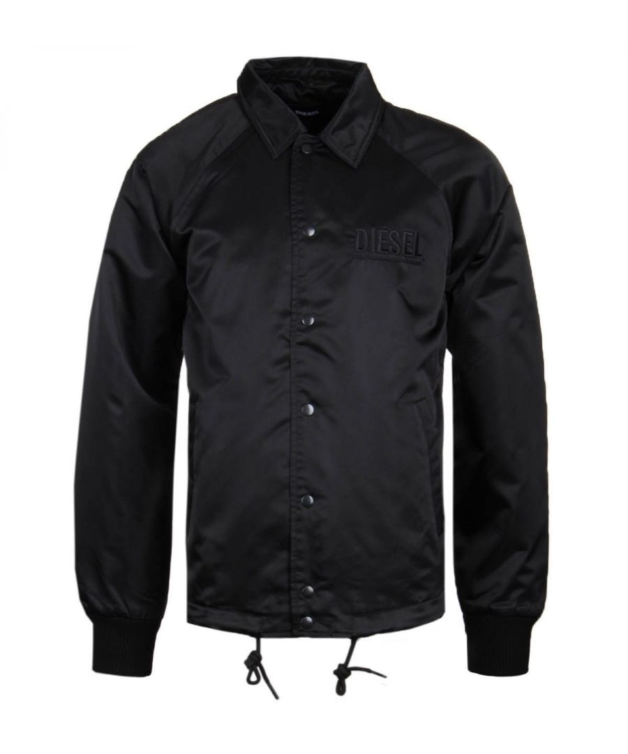 Image for Diesel Satin Black Coach Jacket