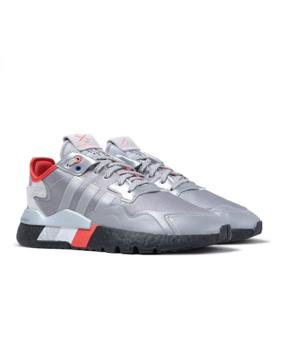 Image for Adidas Originals Nite Jogger Silver Reflective Trainers