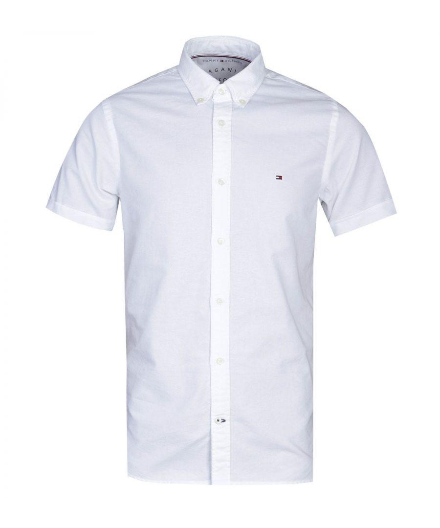 Image for Tommy Hilfiger Slim Fit White Oxford Shirt