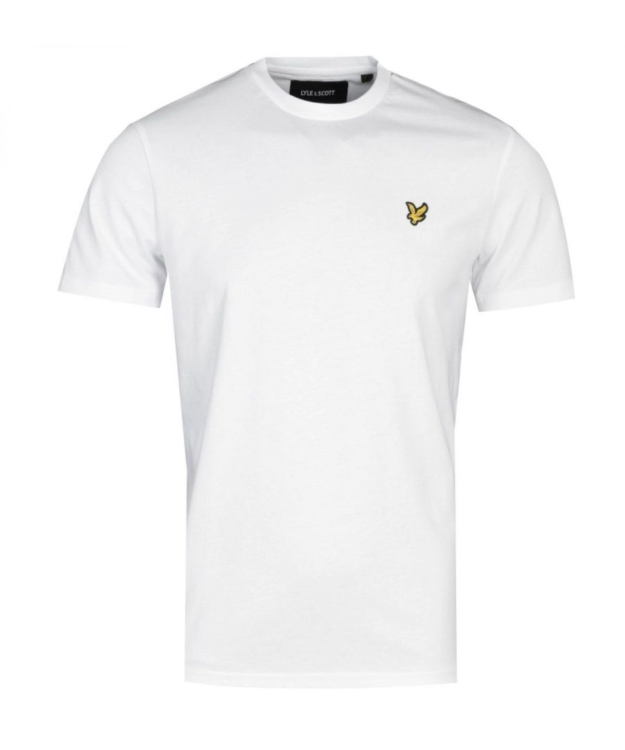 Image for Lyle & Scott Taped White T-Shirt