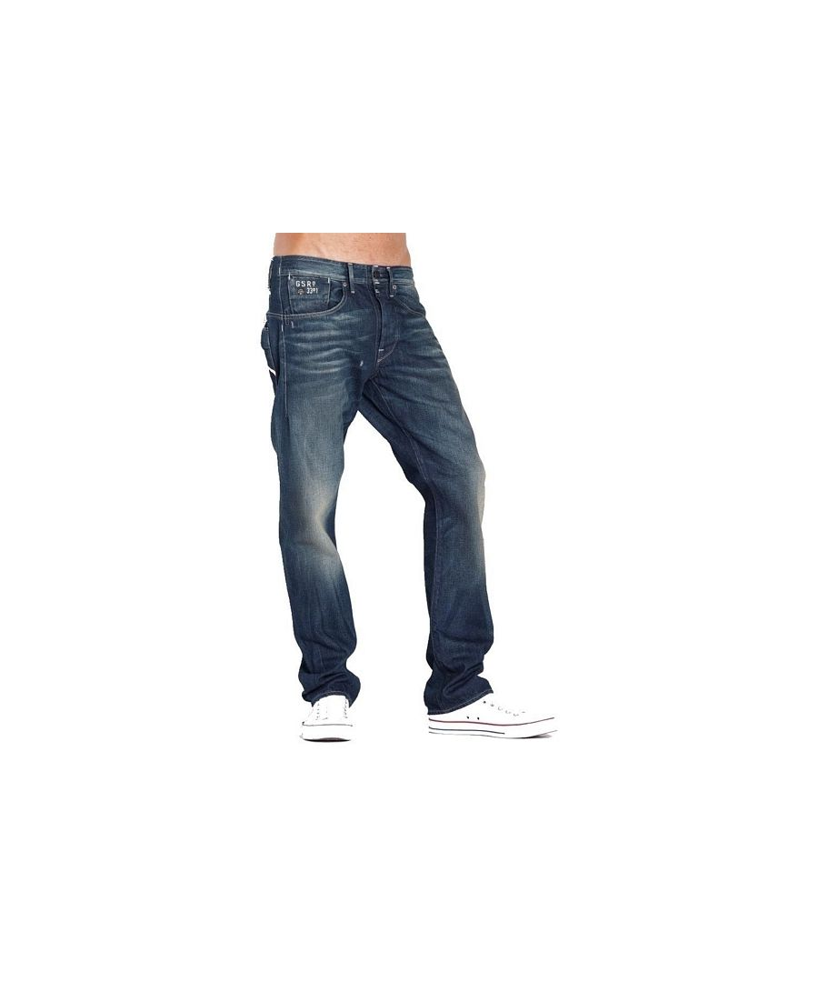 Image for G-Star Structor Straight Aged Wash Spike Denim Jeans