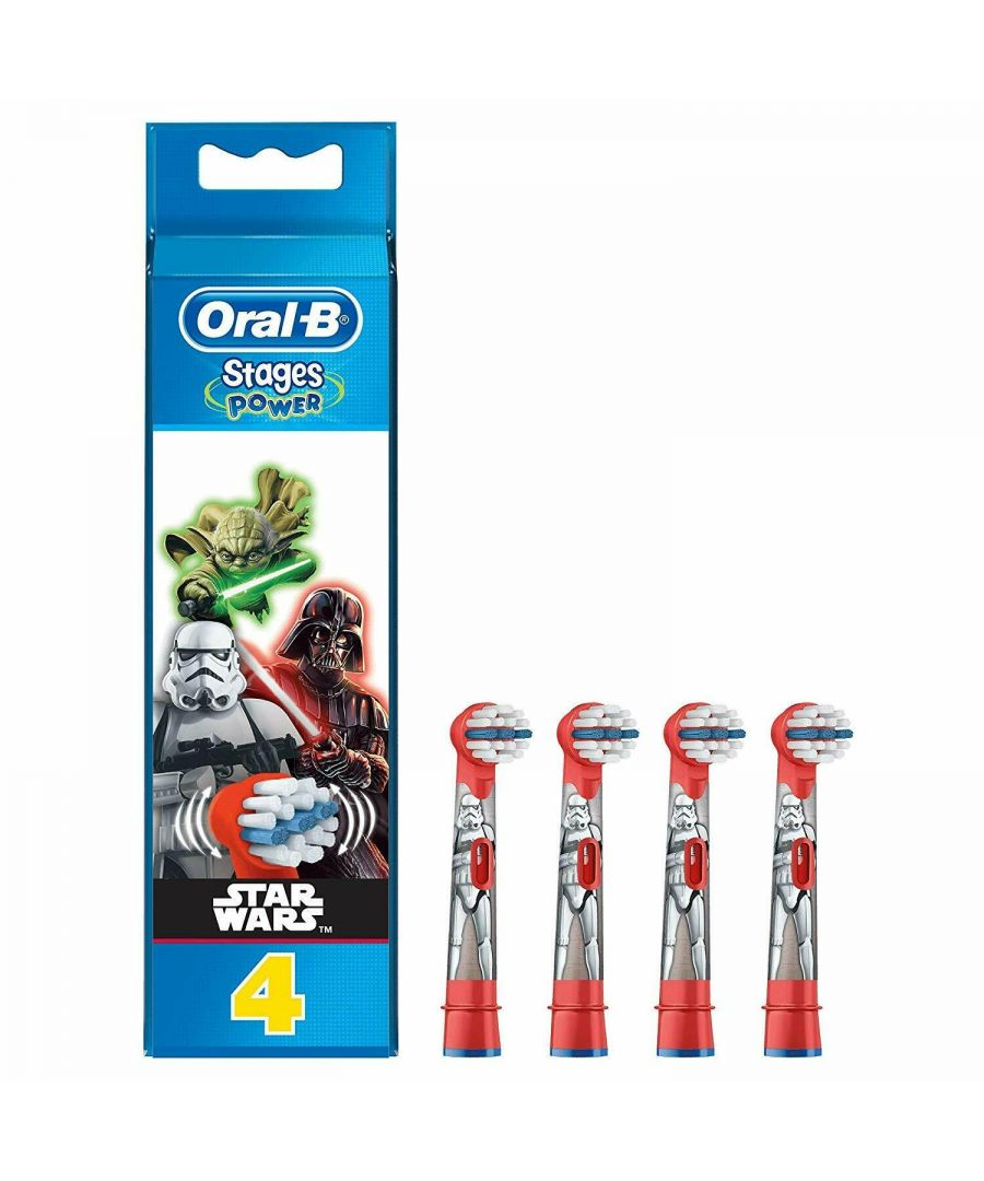 Image for Oral-B Stages Power Star Wars Electric Toothbrush Replacement Heads 4pk