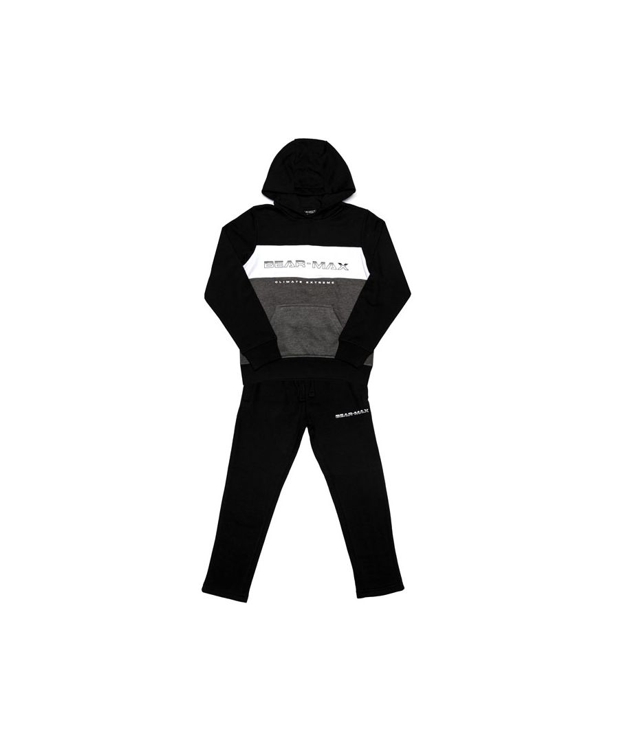Image for Boy's Bear Max Junior Logo Tracksuit in Black