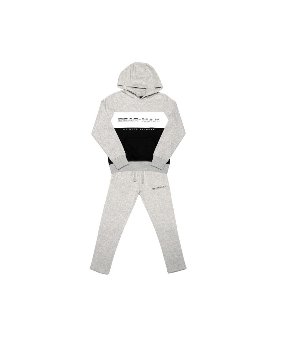 Image for Boy's Bear Max Junior Logo Tracksuit in Grey