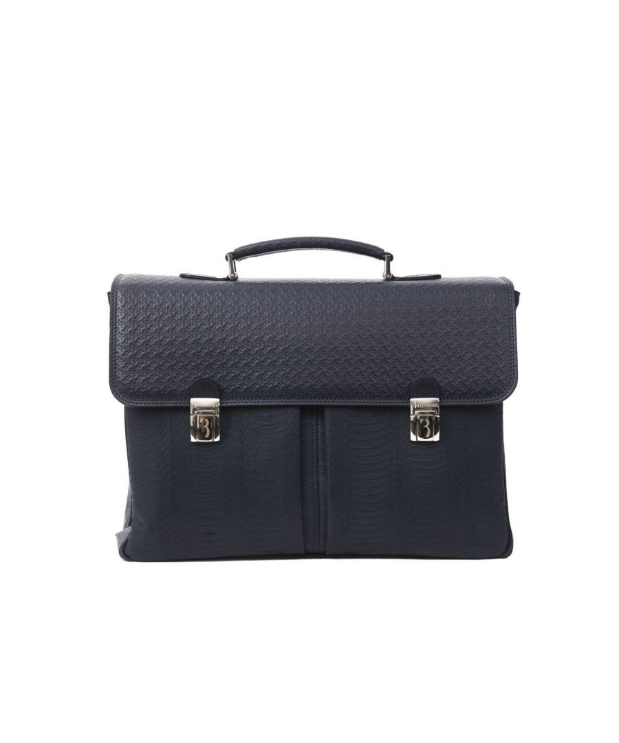 Image for Billionaire Italian Couture Blu Navy Briefcase