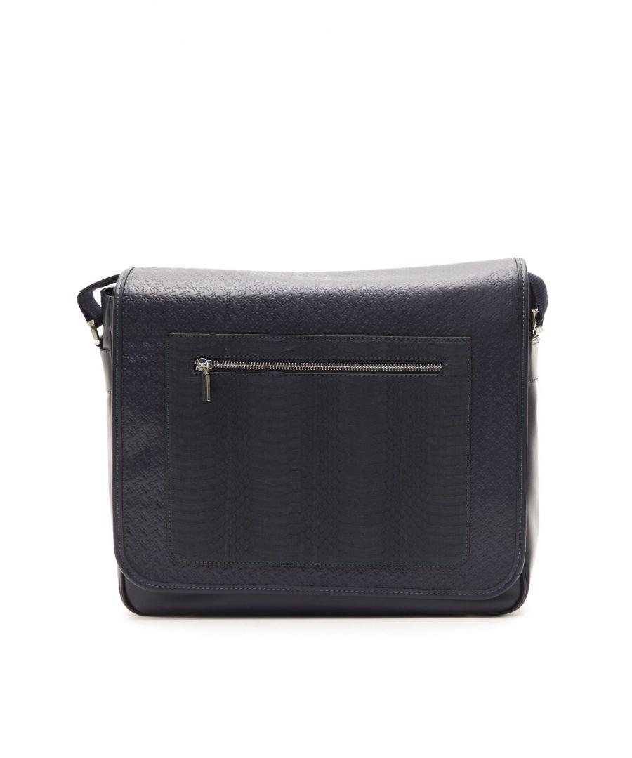 Image for Billionaire Italian Couture Navy Navy Messenger Bag