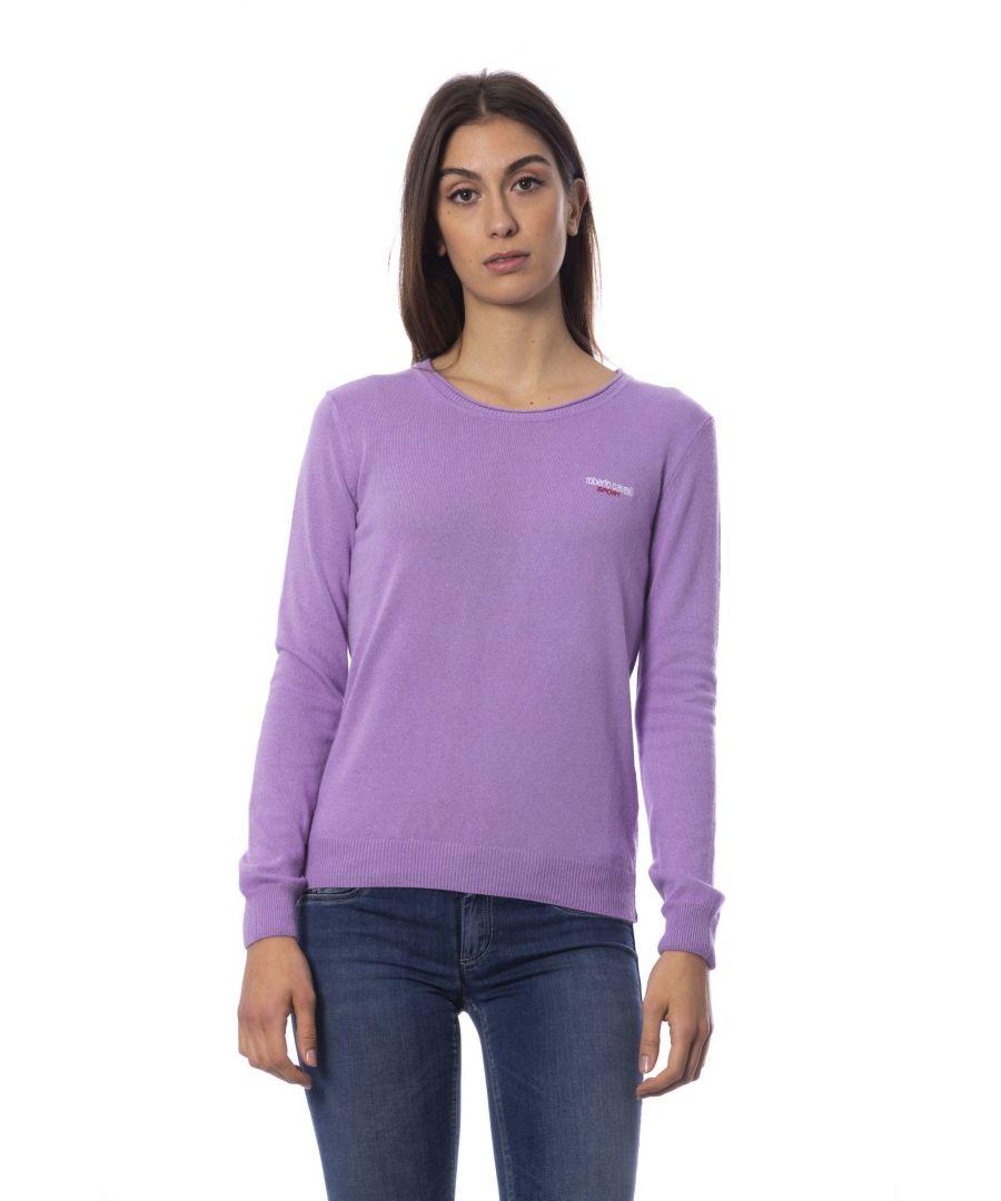 Image for Roberto Cavalli Sport Violet Viscose Polyamide Sweater