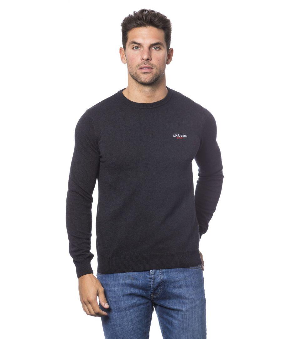 Image for Roberto Cavalli Sport Antracite Sweater