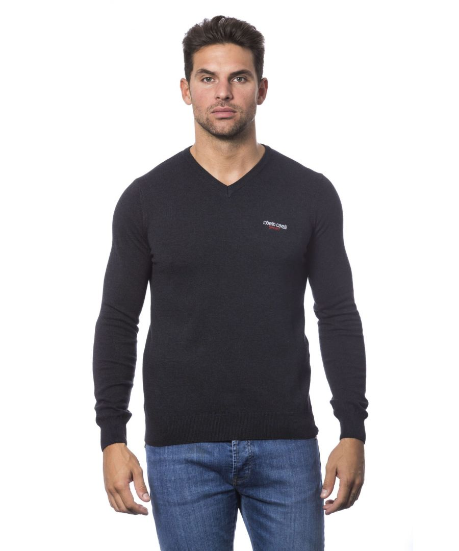 Image for Roberto Cavalli Sport Antracite Sweater