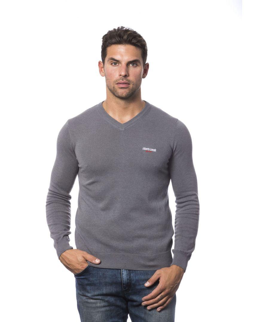 Image for Roberto Cavalli Sport Grigio Sweater