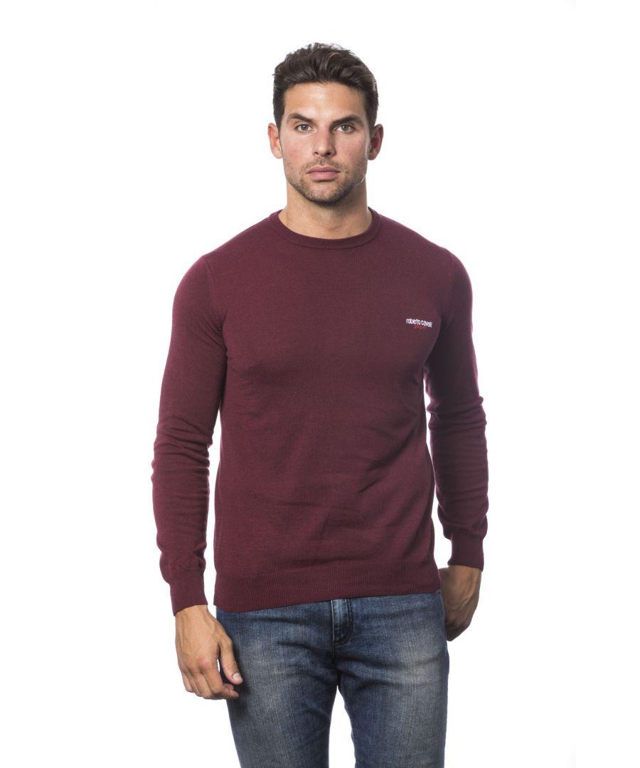 Image for Roberto Cavalli Sport Bordeaux Sweater