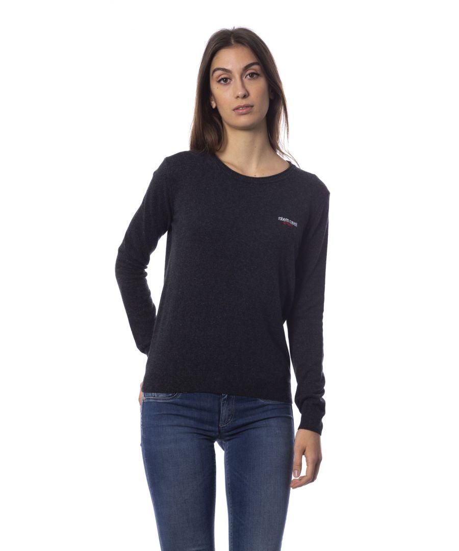Image for Roberto Cavalli Sport Gray Viscose Polyamide Sweater