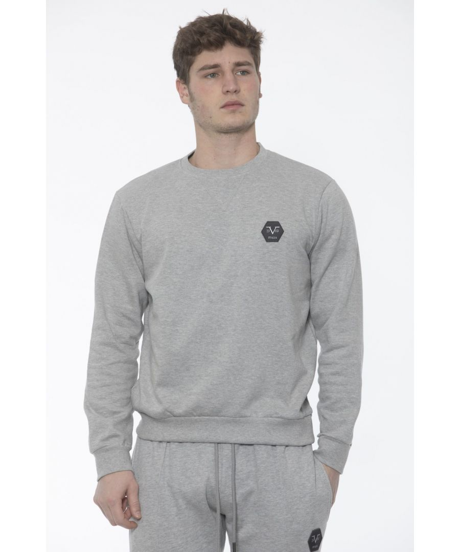 Image for 19V69 Italia Grich Lt Grey Sweater
