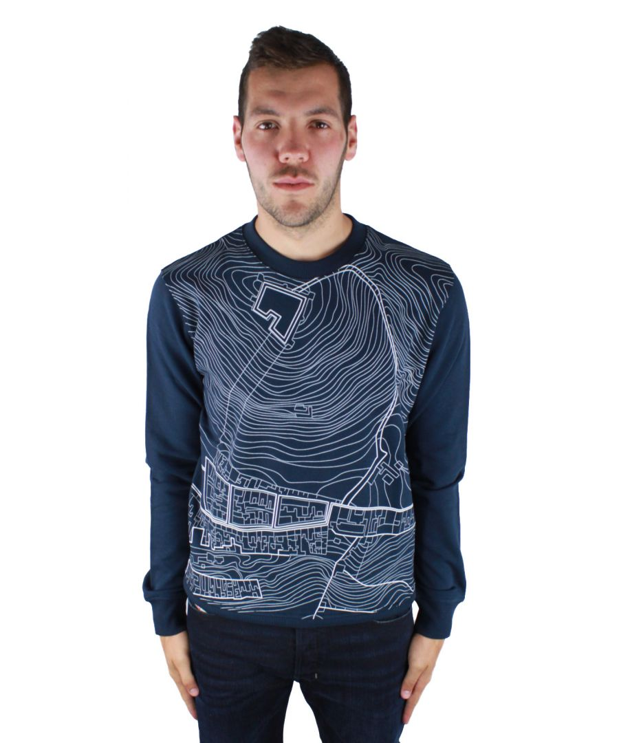 Image for Diesel Black Gold Stressy-Geomap 8GD Jumper