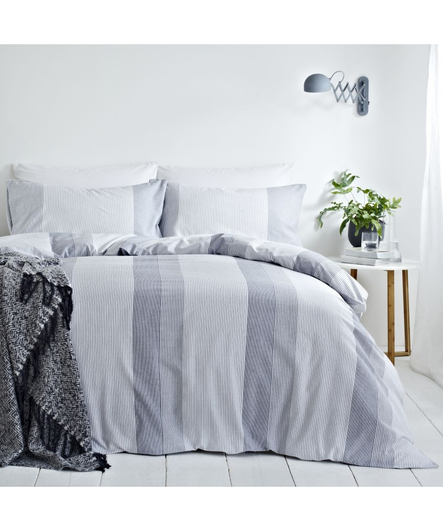 Image for Signature Stripe Duvet Set Blue