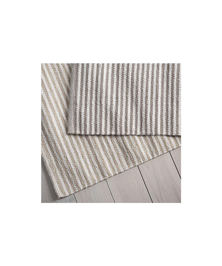 Image for Stripe Cotton Bath Mat Linen