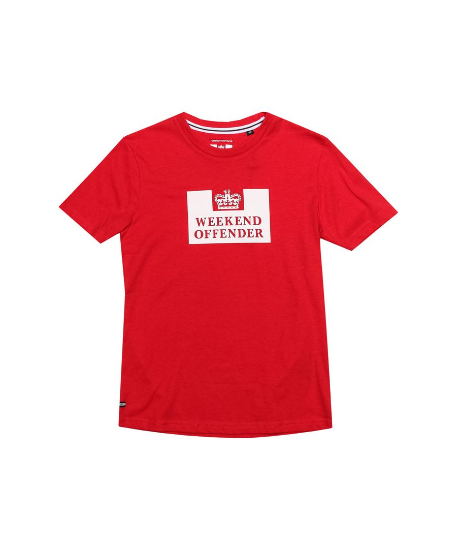 Image for Boy's Weekend Offender Junior Prison T-Shirt in Red