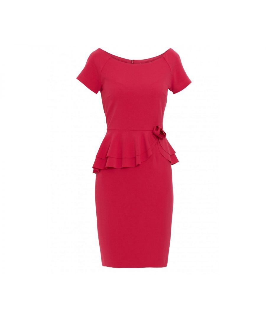 Image for Darla Crepe Peplum Dress
