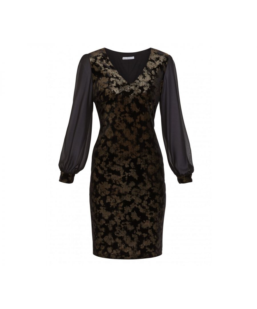Image for Imari Velvet And Chiffon Dress