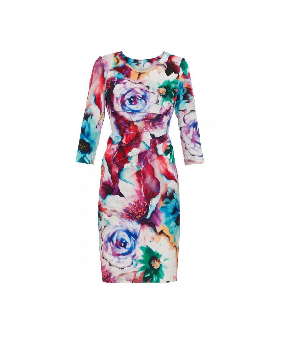 Image for Lareina Floral Scuba Dress