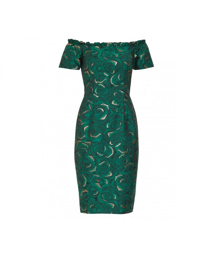 Image for Coraima Floral Jacquard Dress