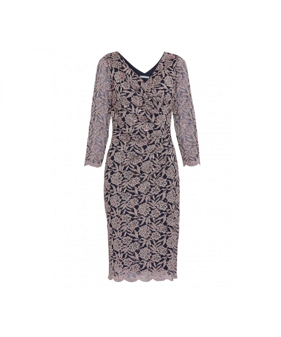 Image for Olena Sequin Lace Dress