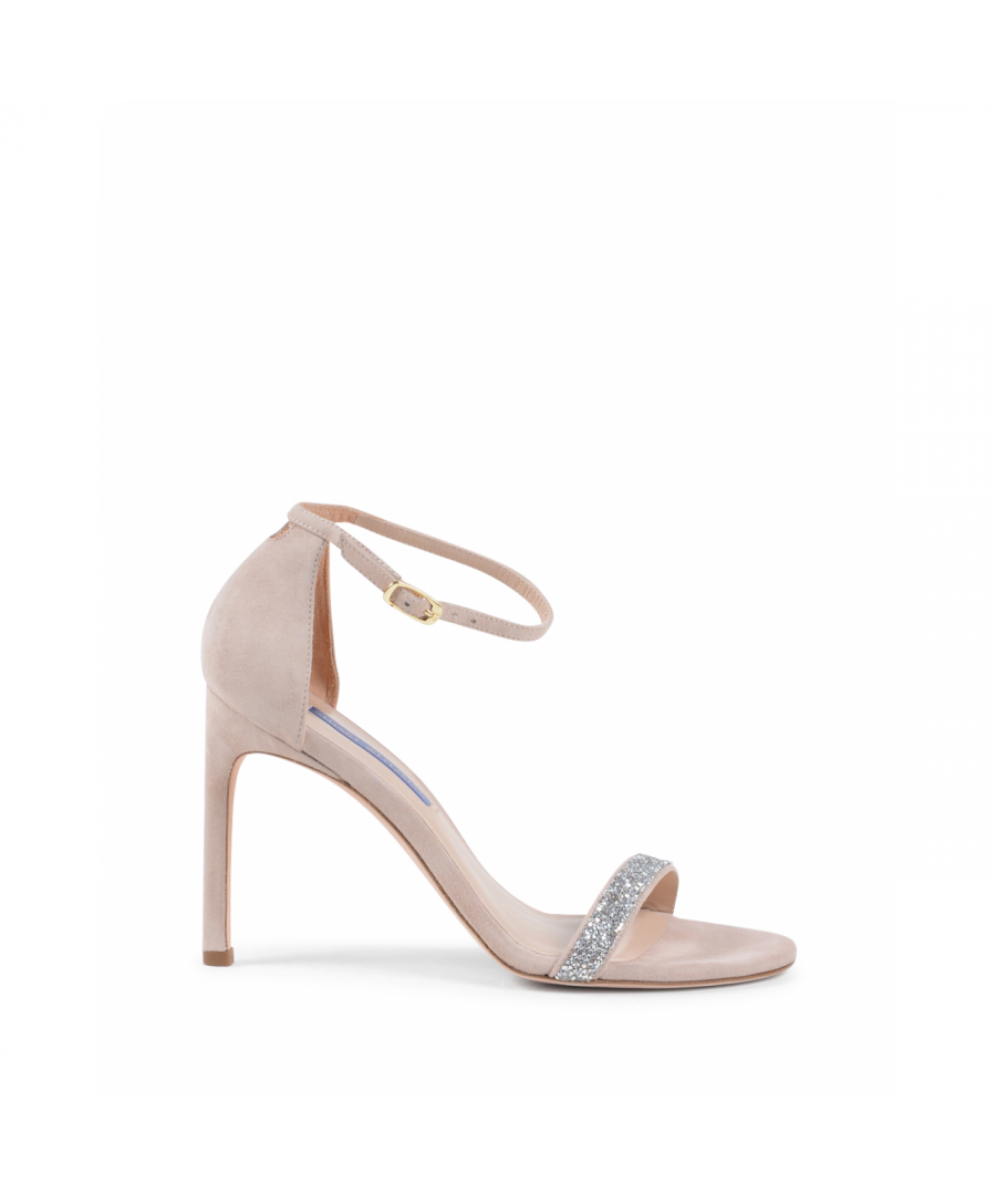 Image for Stuart Weitzman Womens Ankle Strap Sandal Beige NUDISTSONG DOLCE